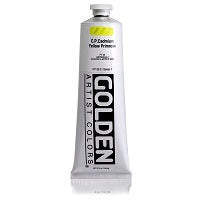 Golden Heavy Body Acrylic C.P. Cad. Yellow Primrose 5 oz  (Prop 65 WARNING!)