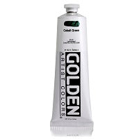 Golden Heavy Body Acrylic Cobalt Green 5 oz  (Prop 65 WARNING!)