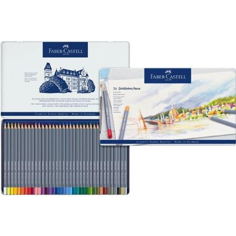 Faber-Castell Goldfaber  Aqua Pencil 36 Color Set in Metal Tin