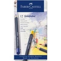Faber-Castel Goldfaber  Colored Pencil 12 Color Set in Metal Tin
