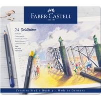 Faber-Castel Goldfaber  Colored Pencil 24 Color Set in Metal Tin