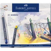Faber-Castel Goldfaber  Colored Pencil 48 Color Set in Metal Tin