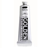 Golden Heavy Body Acrylic Graphite Gray 5 oz