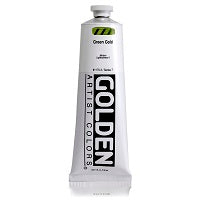 Golden Heavy Body Acrylic Green Gold 5 oz  (Prop 65 WARNING!)