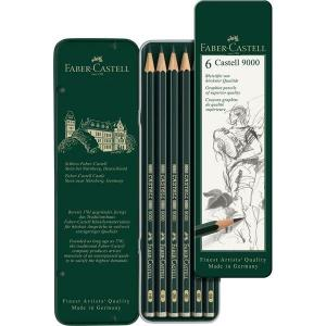 Faber Castell 9000 Graphite Pencil Set of 6