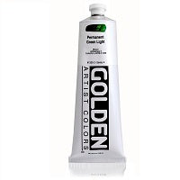 Golden Heavy Body Acrylic Permanent Green Light 5 oz