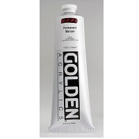 Golden Heavy Body Acrylic Permanent Maroon 5 oz