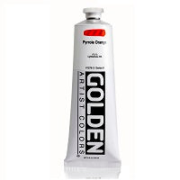 Golden Heavy Body Acrylic Pyrrole Orange 5 oz