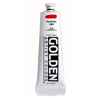 Golden Heavy Body Acrylic Pyrrole Red Light 5 oz
