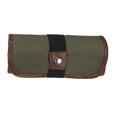 Global Arts 36 Pencil Canvas Roll Up Case - Olive