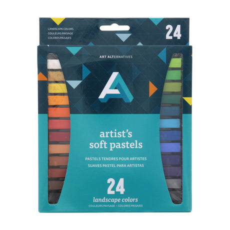 Art Alternatives Artist Soft Pastel Set of 24 Landscape Colors