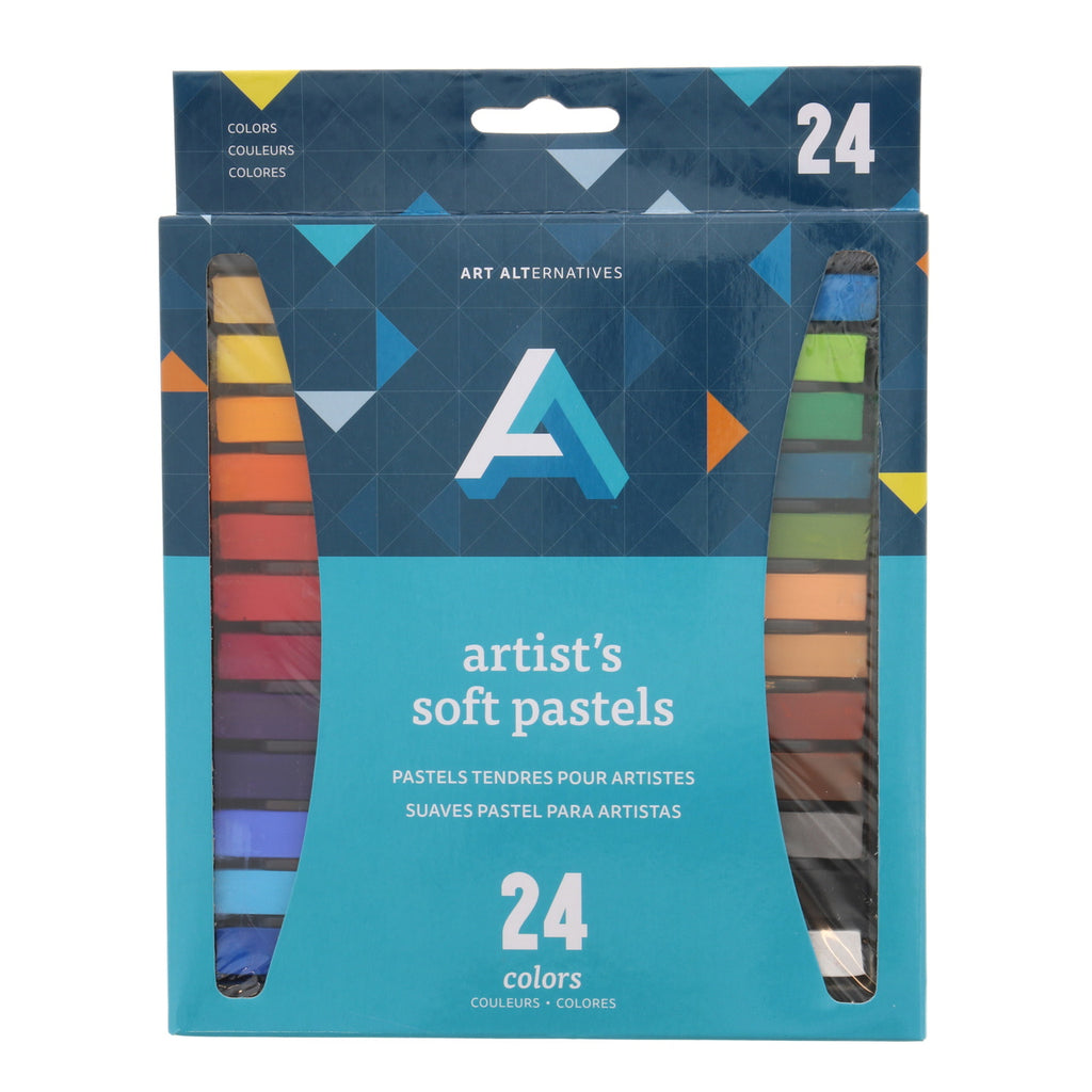 Art Alternatives Artist Soft Pastel Set of 24 Assorted Colors