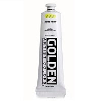 Golden Heavy Body Acrylic Titanate Yellow 5 oz  (Prop 65 WARNING!)