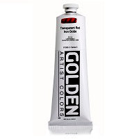Golden Heavy Body Acrylic Transparent Red Iron Oxide 5 oz