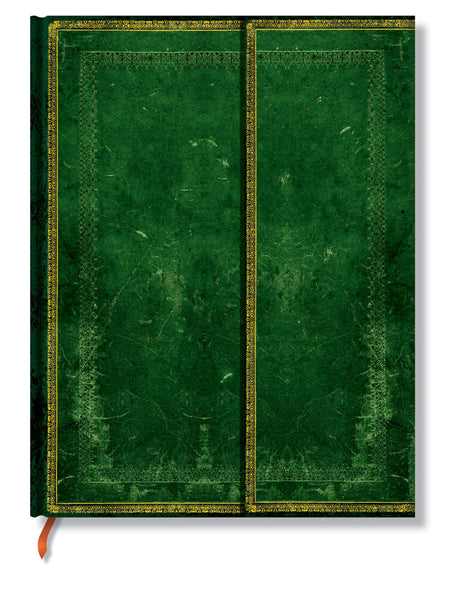 "Paperblanks Journal - Old Leather:Jade Ultra Lined 7"" X 9"""