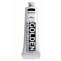 Golden Heavy Body Acrylic Neutral Gray N2 5 oz  (Prop 65 WARNING!)
