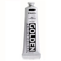 Golden Heavy Body Acrylic Neutral Gray N3 5 oz  (Prop 65 WARNING!)
