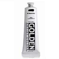 Golden Heavy Body Acrylic Neutral Gray N4 5 oz  (Prop 65 WARNING!)