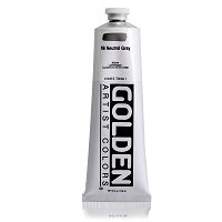 Golden Heavy Body Acrylic Neutral Gray N6 5 oz  (Prop 65 WARNING!)