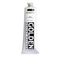 Golden Heavy Body Acrylic Sap Green Hue 5 oz  (Prop 65 WARNING!)