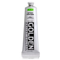 Golden Heavy Body Acrylic Light Green (yellow shade) 5 oz