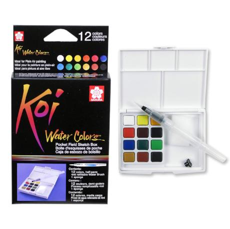 Koi Watercolor 12 color pocket set