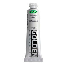 Golden Heavy Body Acrylic Fluorescent Green 2 oz