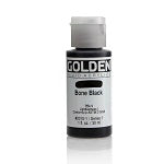Golden Fluid Acrylic Bone Black 1 oz