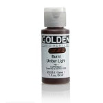 Golden Fluid Acrylic Burnt Umber Light 1 oz