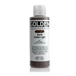Golden Fluid Acrylic Burnt Umber Light 4 oz