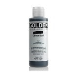 Golden Fluid Acrylic Carbon Black 4 oz