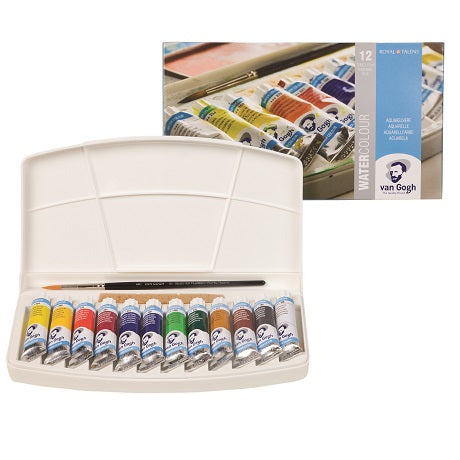 Van Gogh Watercolor Palette box set of 12 tubes