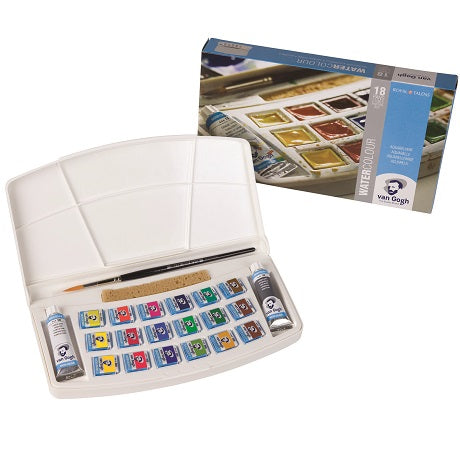 Van Gogh Watercolor Palette Box set of 18 pans