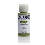 Golden Fluid Acrylic Green Gold 1 oz