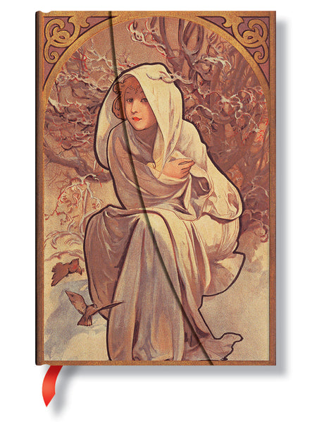 "Paperblanks Journal - Mucha Winter Child Mini Lined 4"" X 5.5"""