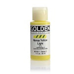 Golden Fluid Acrylic Hansa Yellow Light 1 oz