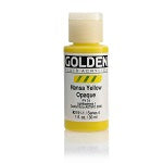 Golden Fluid Acrylic Hansa Yellow Opaque 1 oz