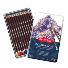 Derwent Coloursoft Colored Pencil Set of 12