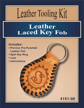 Laced Leather Key Fob Kit