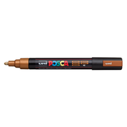 uni POSCA Paint Marker PC-5M Medium Bullet Tip - Metallic Bronze