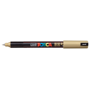 uni POSCA Paint Marker PC-1MR Ultra Fine Tip - Metallic Gold