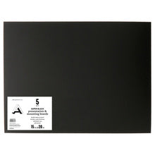 "Art Alternatives Super Black Presentation & Mounting Board 15"" X 20"" - 5 Pack"