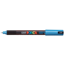 uni POSCA Paint Marker PC-1MR Ultra Fine Tip - Metallic Blue