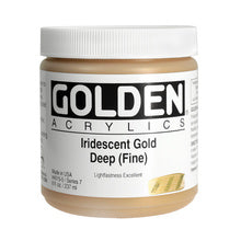 Golden Heavy Body Acrylic Iridescent Gold Deep (fine) 16 oz