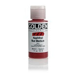 Golden Fluid Acrylic Naphthol Red Medium 1 oz