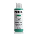 Golden Fluid Acrylic Permanent Green Light 4 oz