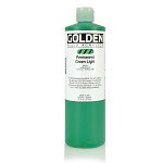 Golden Fluid Acrylic Permanent Green Light 16 oz