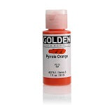 Golden Fluid Acrylic Pyrrole Orange 1 oz