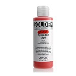 Golden Fluid Acrylic Pyrrole Red Light 4 oz