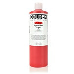 Golden Fluid Acrylic Pyrrole Red Light 16 oz